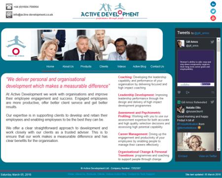 Active Development Website - March 2016