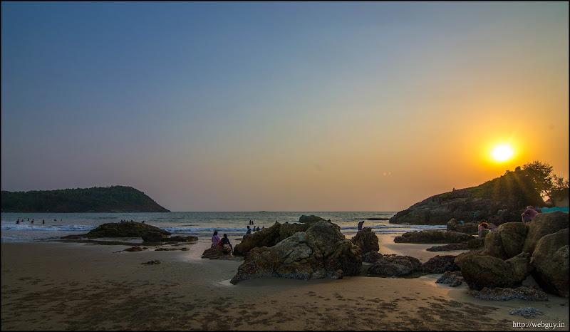 Sunset at Kudle Beach, Gokarna