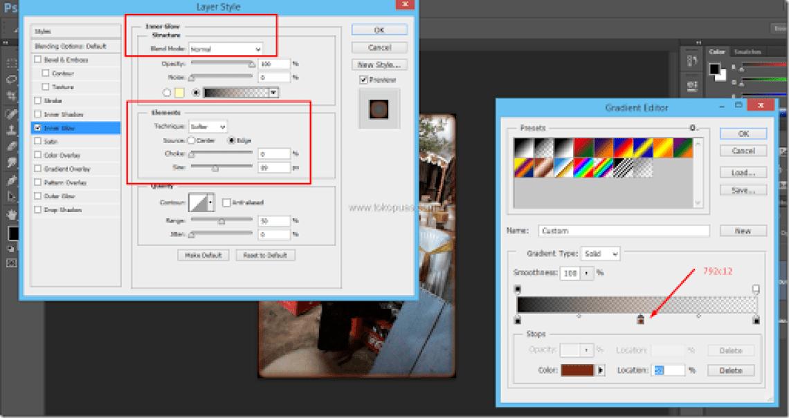tutorial efek foto robek terbakar api photoshop
