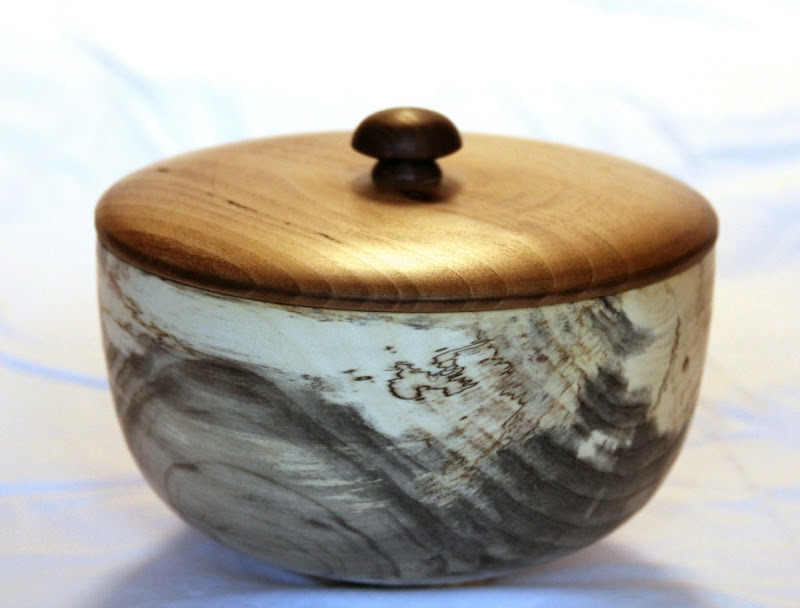 "Bob Browning 5"" x 7"" Beads of Courage box [spalted box elder, sycamore, walnut]"