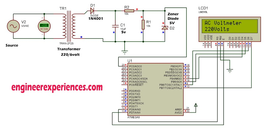 AC Voltage Measurement using ATmega8