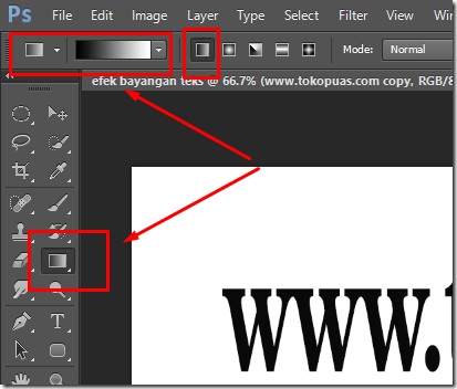 tutorial efek  teks bayangan photoshop tips trik