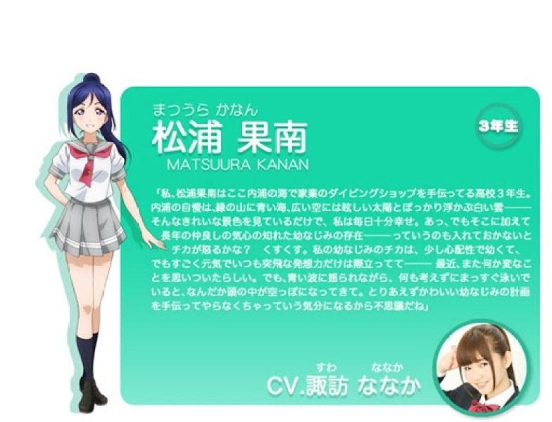 Kanan Matsuura - love live anime