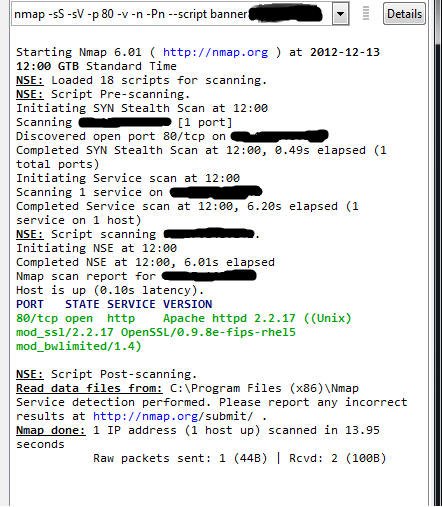Banner Grabbing with Nmap