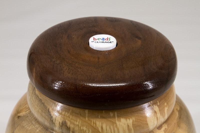 "Stephen Price 6"" x 7"" Beads of Courage box [maple, walnut]"