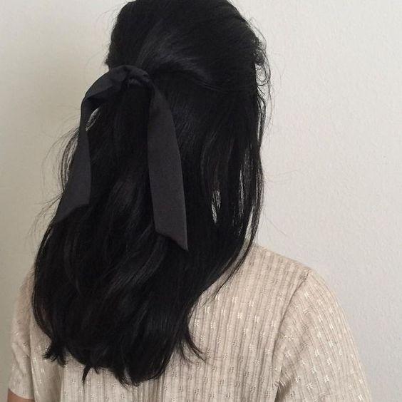 black aesthetic hair-top natural