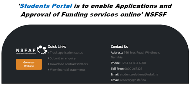NSFAF HOME PAGE FUND APPLICAITON NEWS