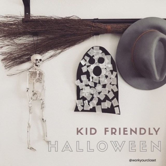 Kid Friendly Halloween Decor via Work Your Closet