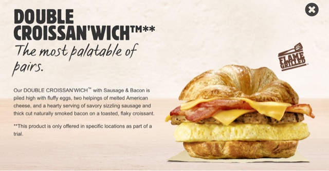 Burger King Double Croissan'wich