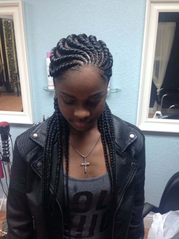 Ghana Braids Hairstyles 2019 with Pictures For Black Women's 1