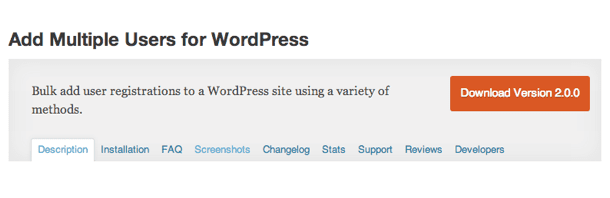 Crear múltiples usuarios en WordPress