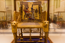Part of the Tutankhamun exhibition in the Egyptian Museum.