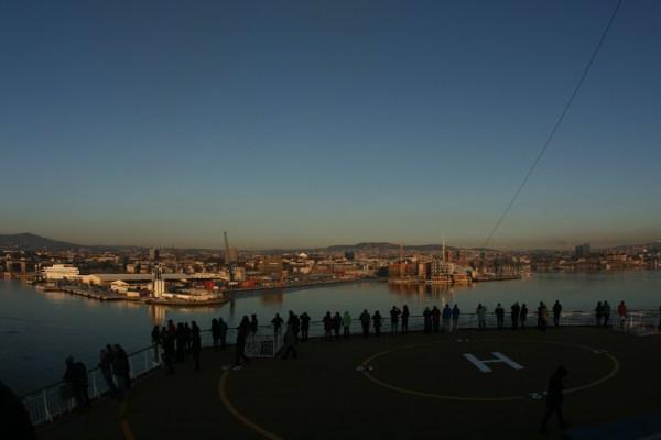 Die Color Fantasy verlässt Oslo