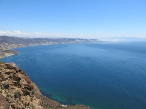 Viewpoint from Mirador on the way to Ensenada