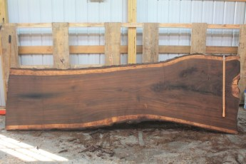 Walnut 296-5  Length 11' Max Width (inches) 44 Min Width (inches) 30 Thickness 10/4  Notes :