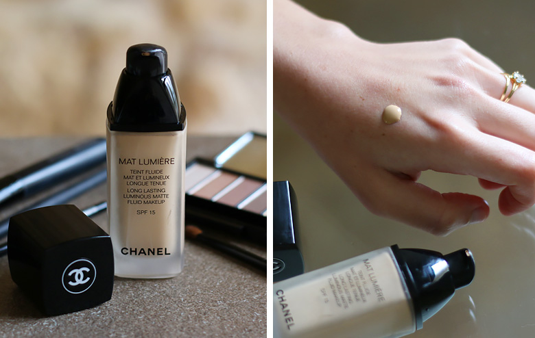 Among my current beauty favorites, this Mat Lumière foundation from Chanel.