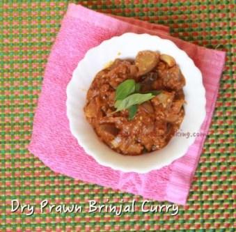 Dry Prawn Brinjal Curry2