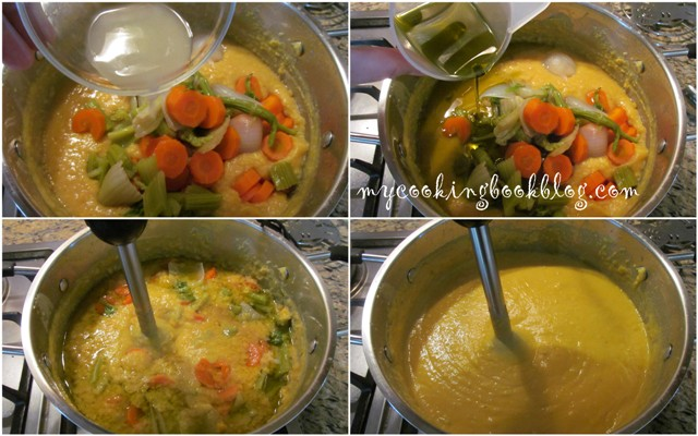 Пюре от жълт сушен грах - ароматно и цветно