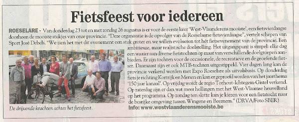 West-Vlaanderens Mooiste in de Streekkrant