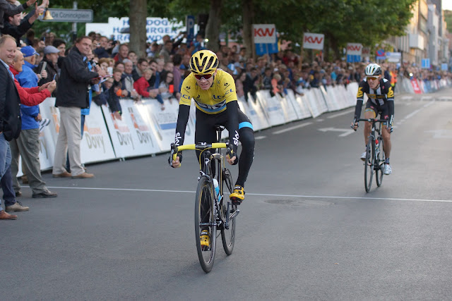 Chris Froome eindigt als tweede in Roeselare
