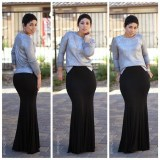 how to style a fitted maxi skirt 2016 2017