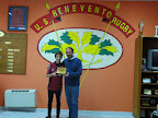 The President of US Rugby Benevento hand over a plate for RCW in the hands of the Captain.JPG