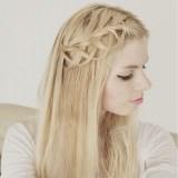 simple loop braid hairstyle 2017