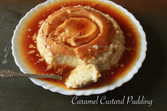 Caramel Custard Pudding5
