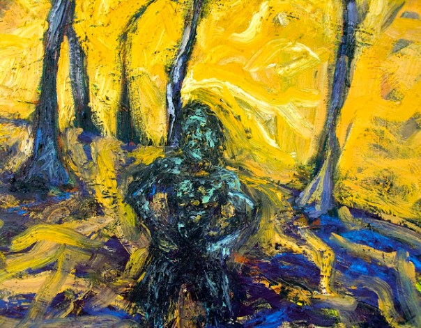 Hot Sun, Strong Man, Melting Trees - detail