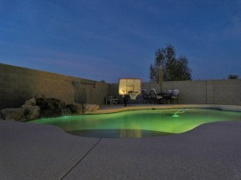 Pool with waterfall: Maricopa AZ real estate for sale