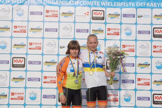 Podium PK baanwielrennen West-Vlaanderen meisjes