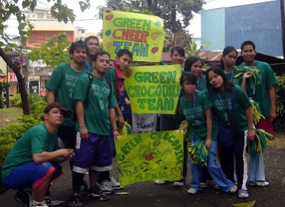 Green Team Banner Parade