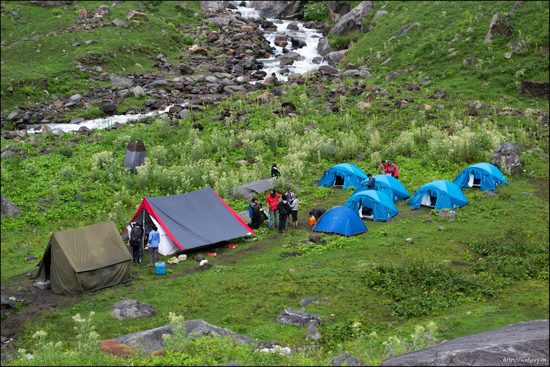 Camp at Chikka - Hampta Pass Trekking