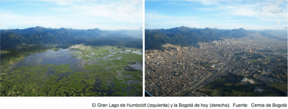 Lago de humboldt y Bogotá hoy