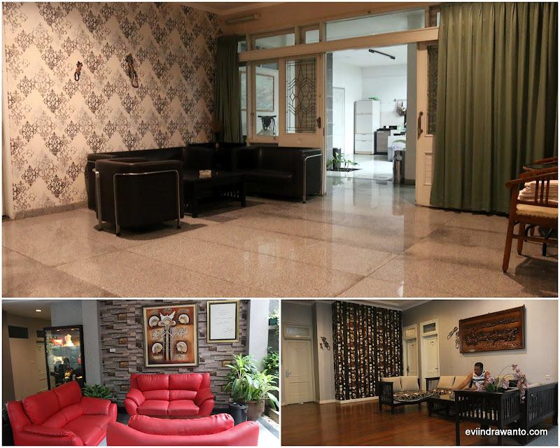 Ruang duduk di Sweet Karina Hotel