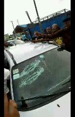 Soldier Allegedly Attacks A Driver With Cutlass In Benin(Pics)