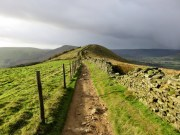 Back Tor And Mam Tor With Stormy Sky Above