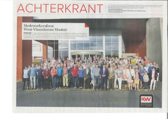 Medewerkersfeest West-Vlaanderens Mooiste