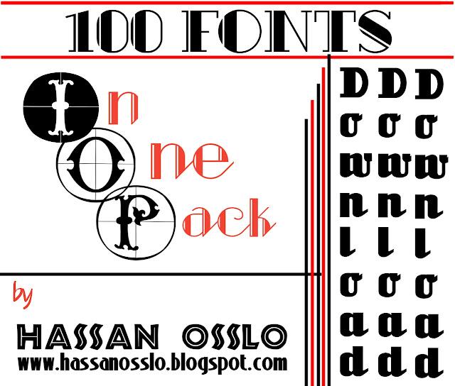 Download 100 Fonts ttf free pack zip - HaSSaN Osslo