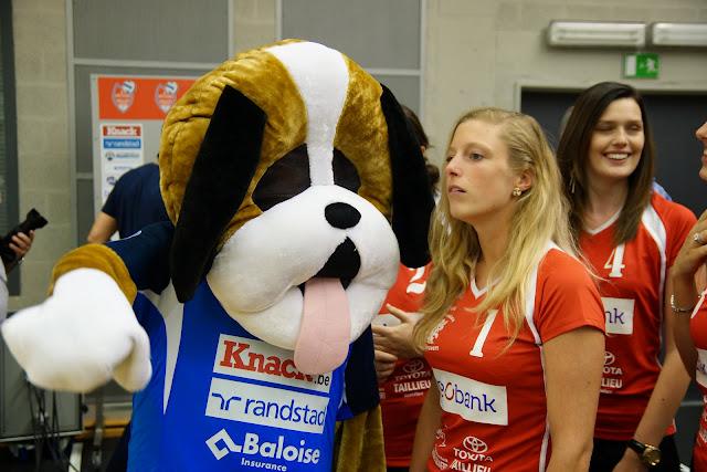 mascotte Gust en Eline Van Parys