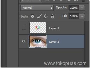 tutorial membuat mata pelangi photohshop