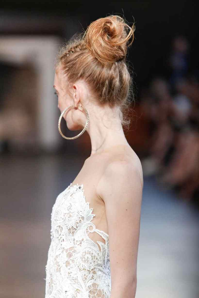 Wedding updos for continued hair: You can also constrict in a tiny adopted annual in the bond for added flair