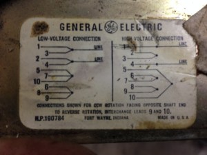 GE TriClad 10 Wire Motor Diagram  VintageMachinery