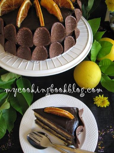 Портокалово-шоколадова торта