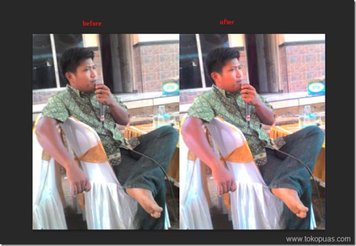tutorial efek retro mempertajam gambar photoshop