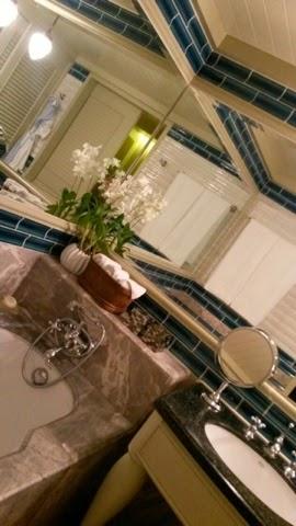 Marble-finished bath and skin at the Mandarin Oriental hotel in Bangkok