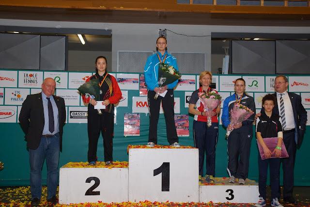 Nathalie Marchetti, Belgisch Kampioen tafeltennis op het podium