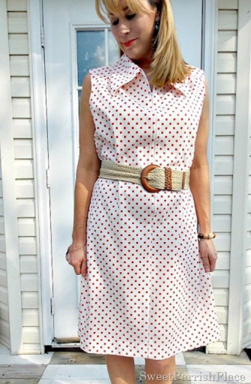 Vintage 1960's Dress, leopard sweater, orange peep toes3