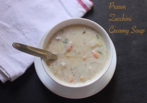 Prawn Zucchini Creamy Soup4