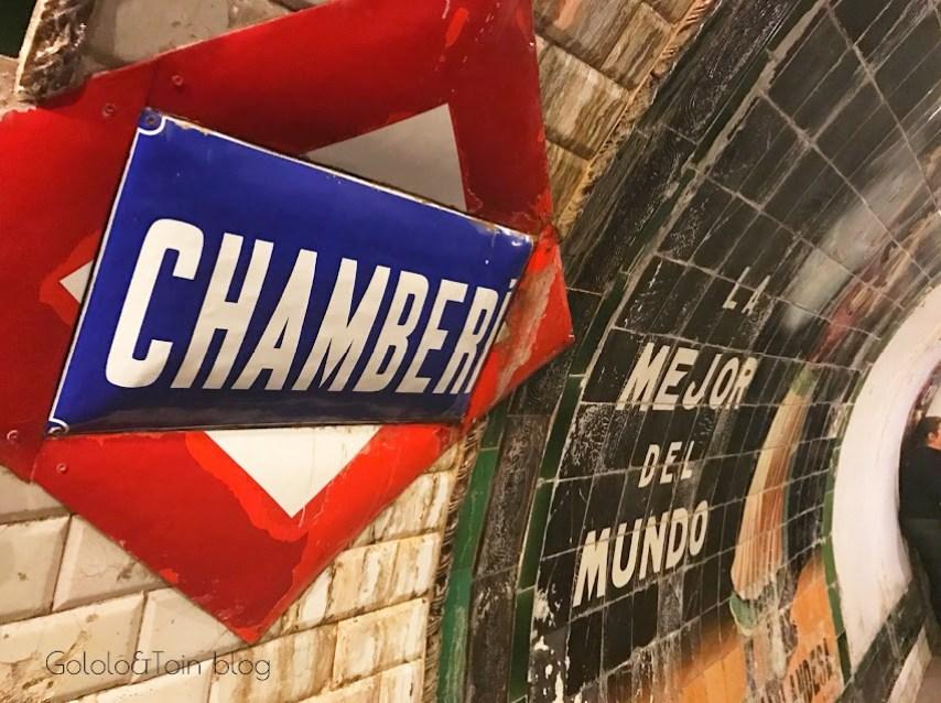 Cartel estación de Chamberí